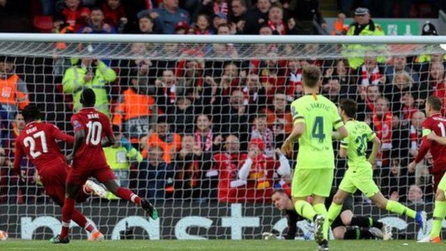 Divok Origi postiže gol protiv Barselone u revanšu polufinala Lige šampiona