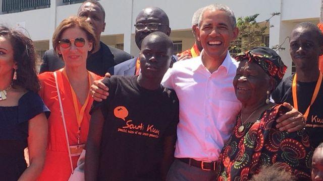 Obama wakati wa ufunguzi wa kituo cha Sauti Kuu