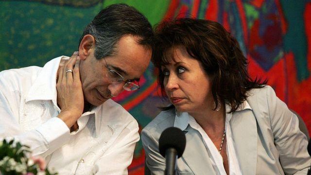 Álvaro Colom y Sandra Torres