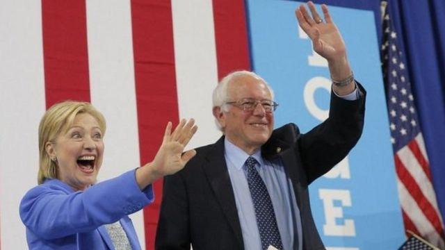 El 12 de julio Bernie Sanders anunció públicamente su apoyo a Hillary Clinton.