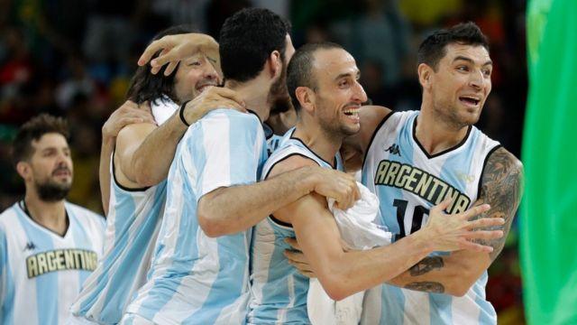La selección argentina de baloncesto masculino.