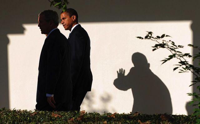 Обама и Буш
