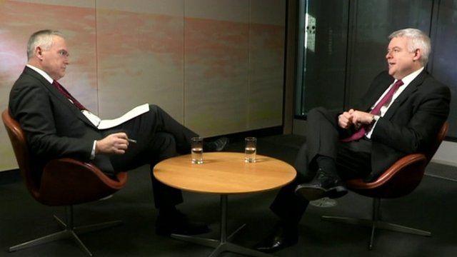 Huw Edwards and Carwyn Jones