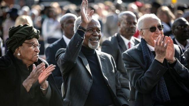 アナン氏は先月、南アフリカのヨハネスブルクで開かれた故ネルソン・マンデラ氏の生誕100周年記念行事に出席していた
