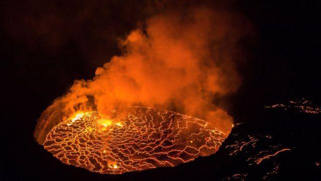 Volcan Nyiragongo en République démocratique du Congo (RD Congo)