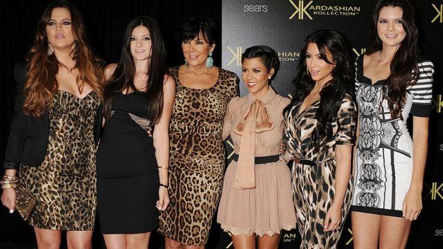 Khloe Kardashian, Kylie Jenner, Kris Jenner, Kourtney Kardashian, Kim Kardashian e Kendall Jenner