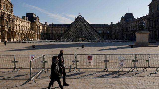 Louvre museum in Paris.