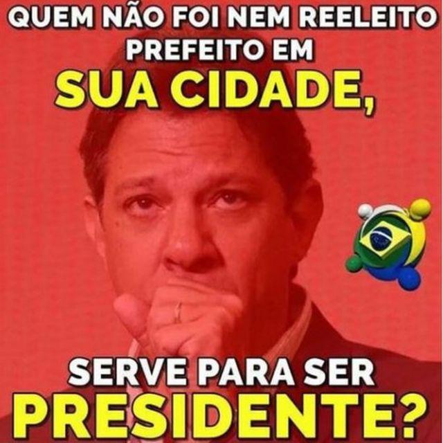 Montagem de Haddad compartilhada em páginas pró-Bolsonaro