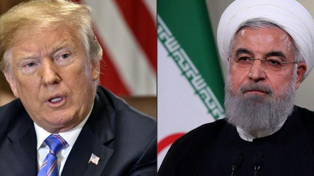 حسن روحانی و دونالد ترامپ