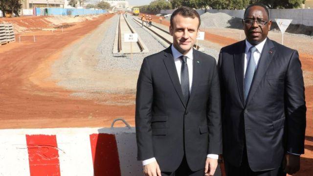 Le président français, Emmanuel Macron et le président sénégalais, Macky Sall.