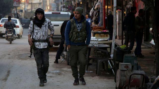 سيطرت قوات المعارضة السورية الموالية لتركيا على مدينة عفرين الكردية في آذار/مارس 2018