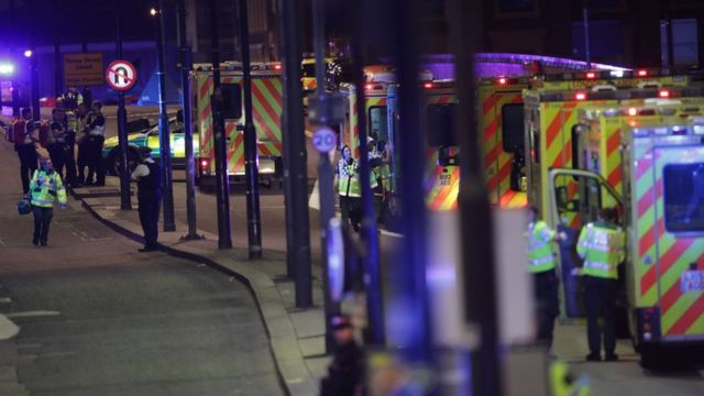 Ambulancias en el Puente de Londres