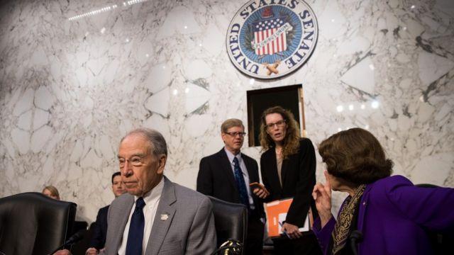 Comité del Senado de EE.UU. en audiencias sobre la supuesta interferencia de Rusia en el proceso electoral