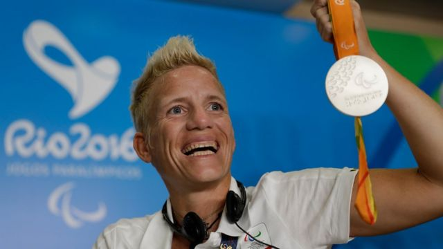 La atleta paraolímpica belga Marieke Vervoort