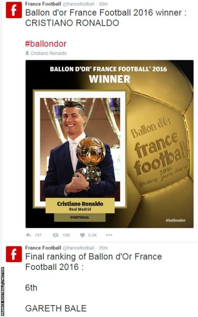 Ronaldo yavuze ko umwaka wa 2016 ari mwiza kuri we.