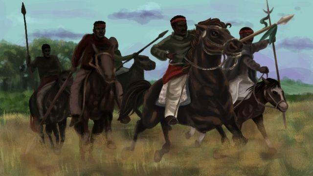 Ilustração sobre a chacina, pintada pelo artista Thiago Krenning para o programa Nação da TVE-RS