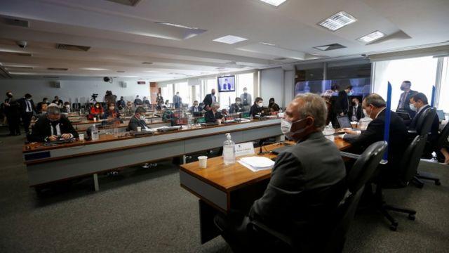 Deputados na CPI da Covid