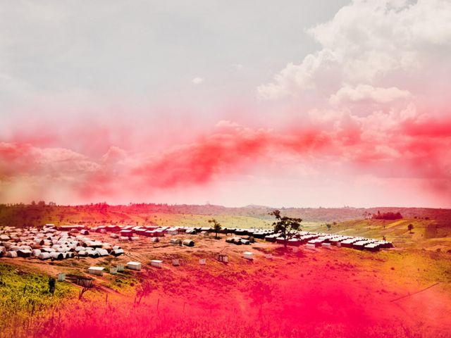 Vues d'un camp de personnes déplacées, territoire de Djugu, province d'Ituri. République démocratique du Congo
