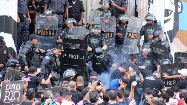 Protestas en Rio de Janeiro en Noviembre de 2016.