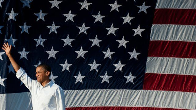 Obama and American flag