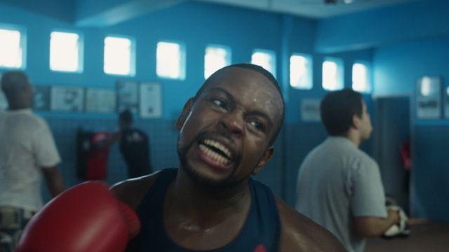 Alan treinando boxe
