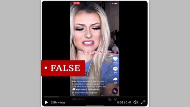 نشر أحد مستخدمي TikTok مقطع فيديو يحتوي على ادعاءات كاذبة حول استخدام لقاح كورونافير لزرع رقائق إلكترونية في أجساد الأشخاص.