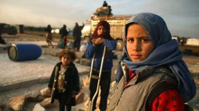 İdlib'de üç çocuk