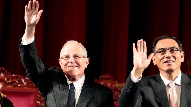 Pedro Pablo Kuczynski e Martín Vizcarra