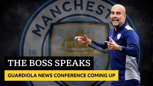 Pep Guardiola news conference coming up
