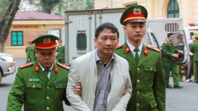 Trịnh Xuân Thanh ra tòa ở Hà Nội ngày 22/1/2018