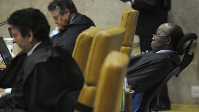 Ministros do STF durante julgamento do mensalão
