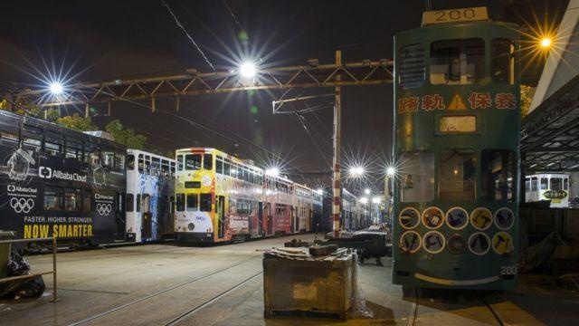 凌晨三點的電車廠