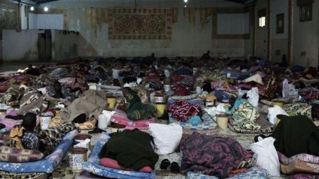 مركز احتجاز مهاجرين في ليبيا