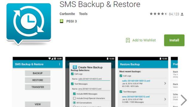 एसएमएस बैकअप एंड रीस्टोर ऐप