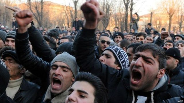 Протест в армении