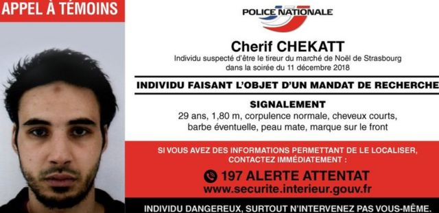 Police notice for Cherif Chekatt