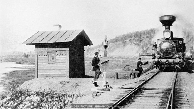 One hundred years ago, the train journey from Kazan to Siberia would have taken month