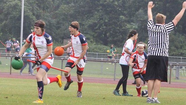 The UK Quidditch team