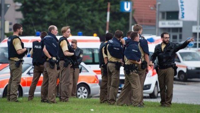 Police operation in Munich