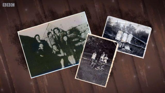 Tres retratos de su familia