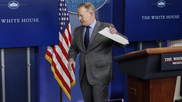 Шон Спайсер був речником Білого Дому від приходу до влади Дональда Трампа