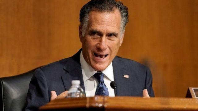 Mitt Romney fala em comitê do Senado