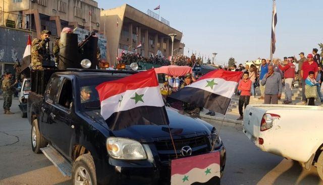 Haseke'nin kuzeyindeki Suriye askerleri