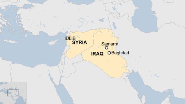 Aworan bi orilẹede Syria se sunmọ Iraq si