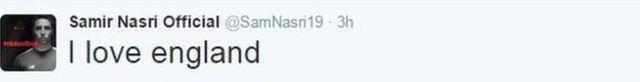 Samir Nasri tweet