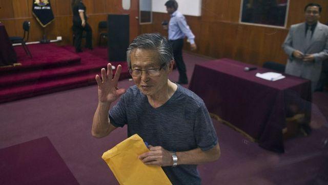 Альберто Фухіморі під час суду, 2015 рік