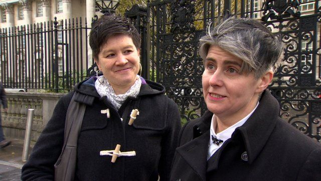 Shannon Sickles and Grainne Close are one of two couples taking the case