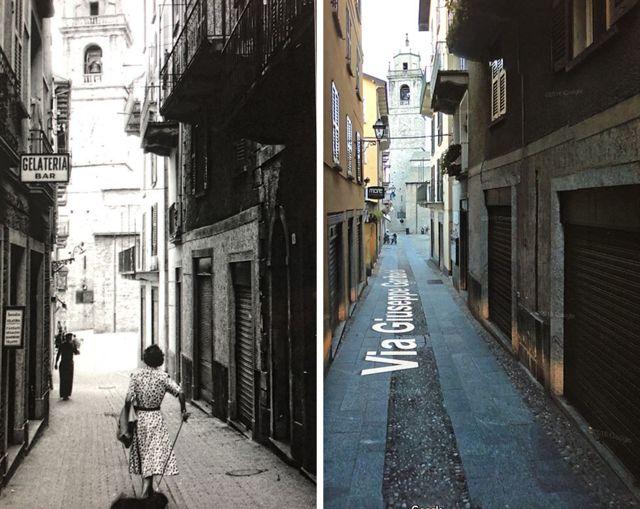Uma rua em Bellagio