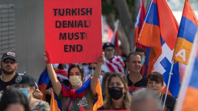 abd'de ermenilerin protestosu