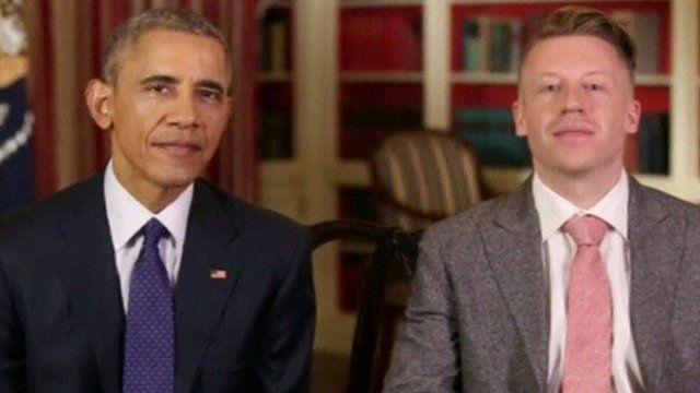 President Obama and rapper Macklemore